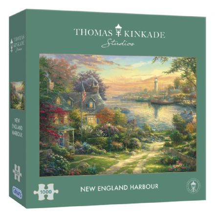 New England Harbour by Thomas Kinkade Studios 1000 Piece Gibsons Jigsaw